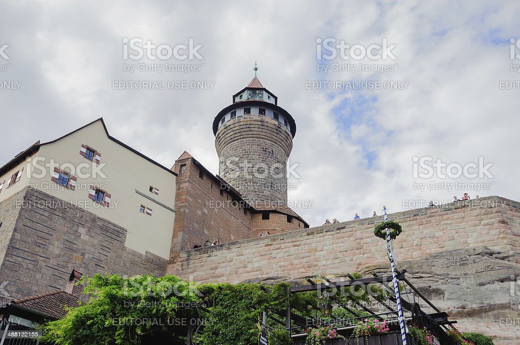 Imperial Castle in Nuremberg royalty-free stock photo