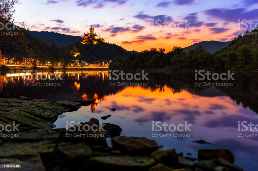 Imperial castle of Cochem stock photo