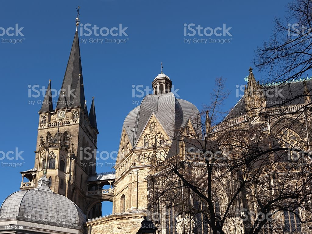 Imperial Cathedral in Aachen stock photo