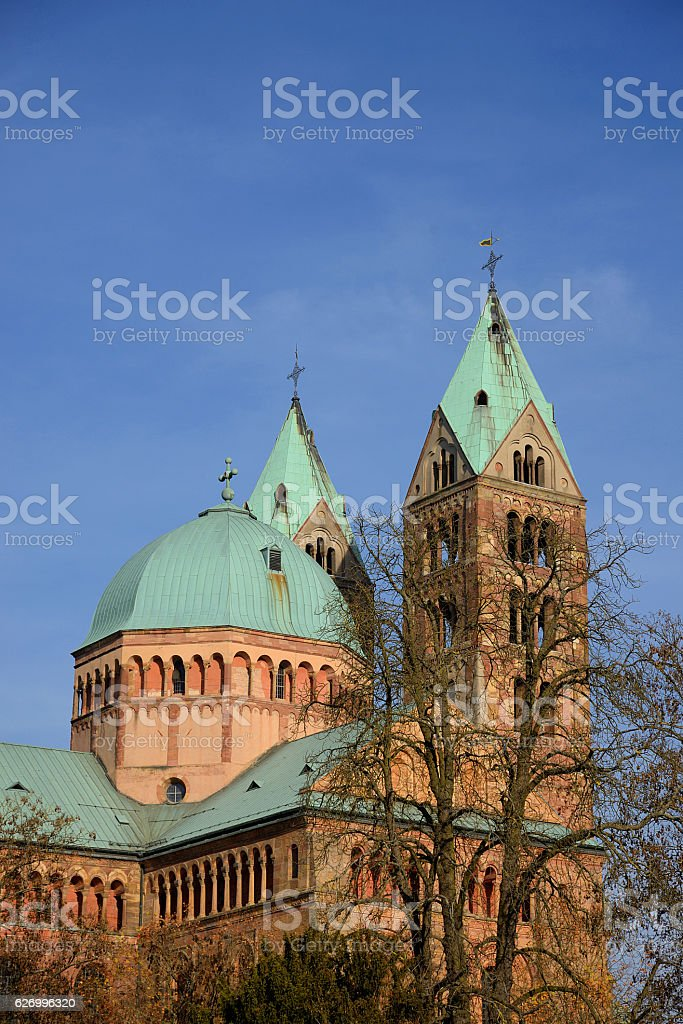 Imperial cathedral in speyer germany stock photo