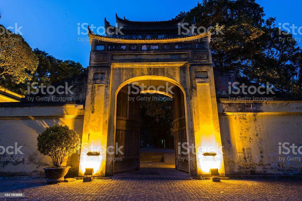 Imperial Citadel of Hanoi stock photo