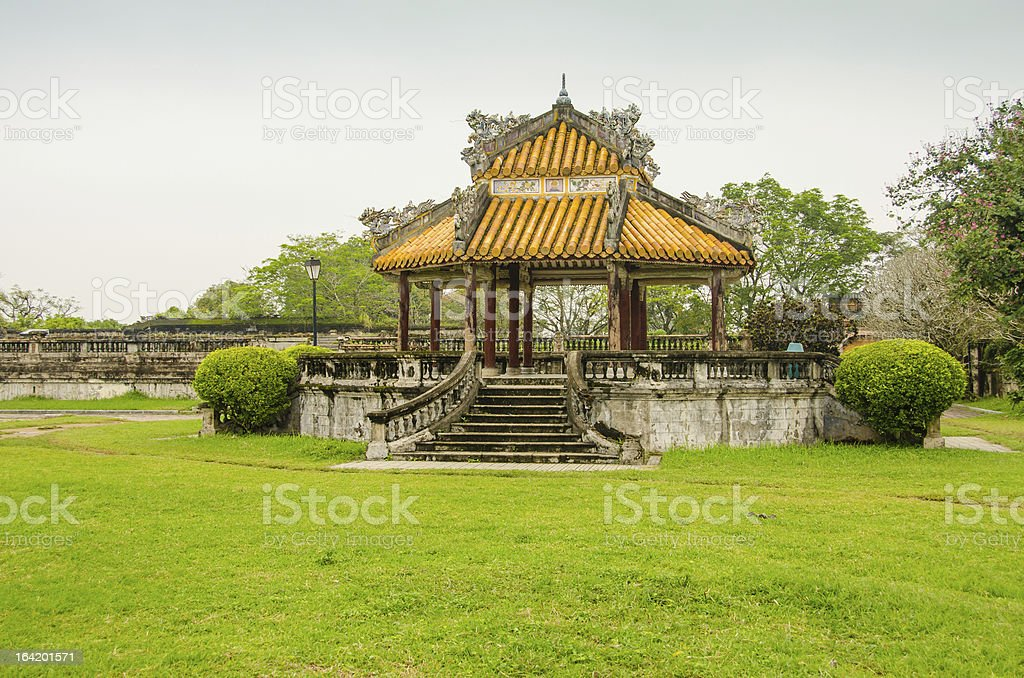 Imperial City (Citadel) in Hue royalty-free stock photo