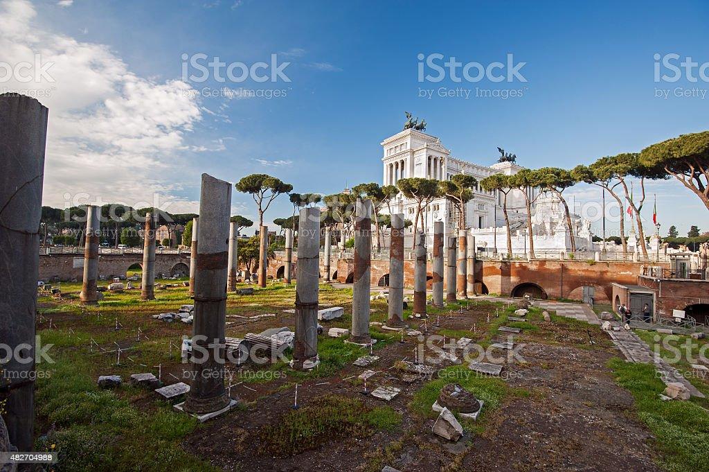 Imperial Forum and Victorian Complex (Complesso del Vittoriano) stock photo