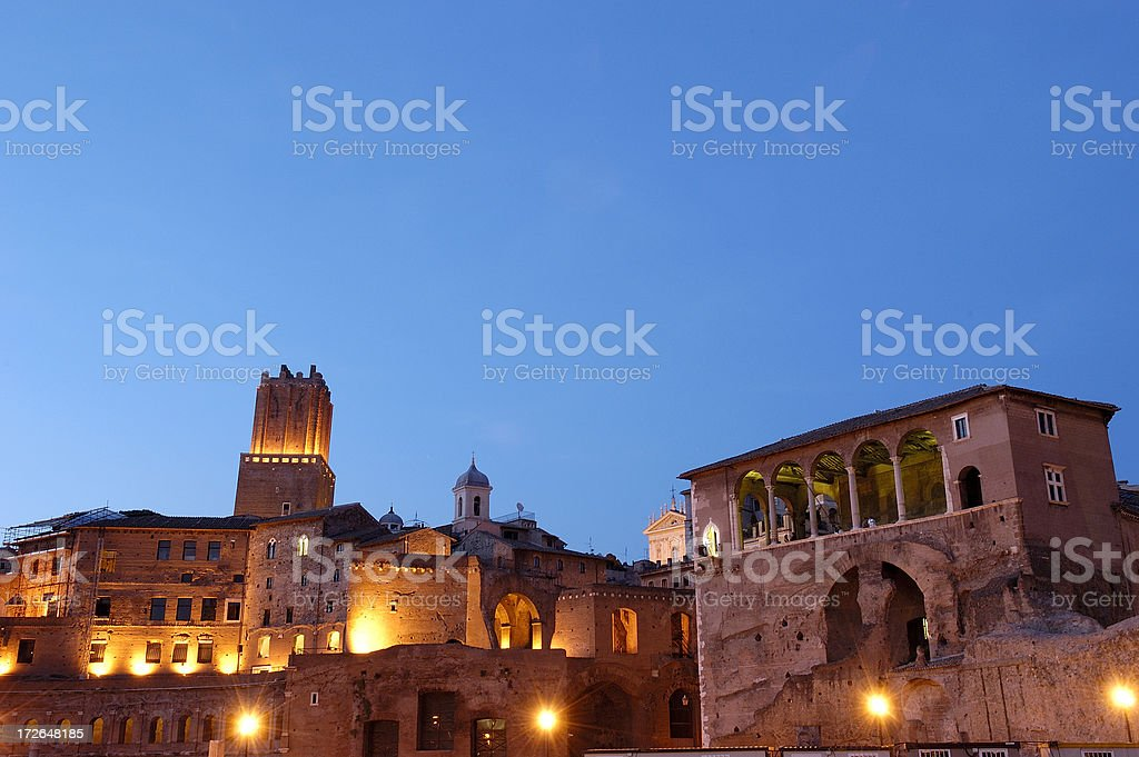 Imperial Forum in Rome stock photo