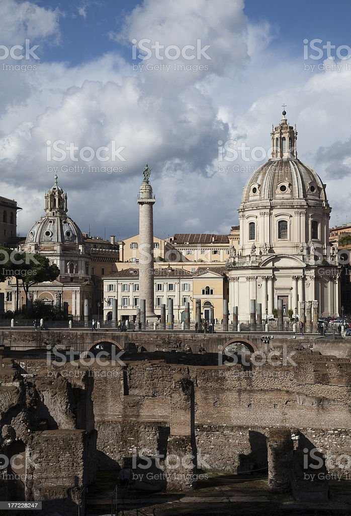 Imperial Forum, Rome royalty-free stock photo