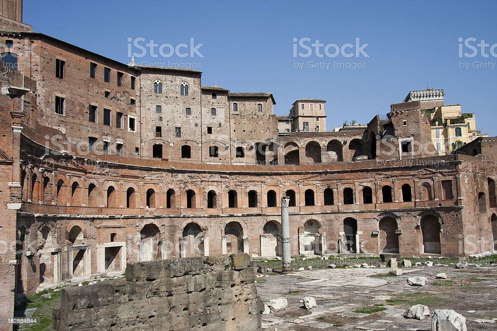 Imperial Forum Rome stock photo