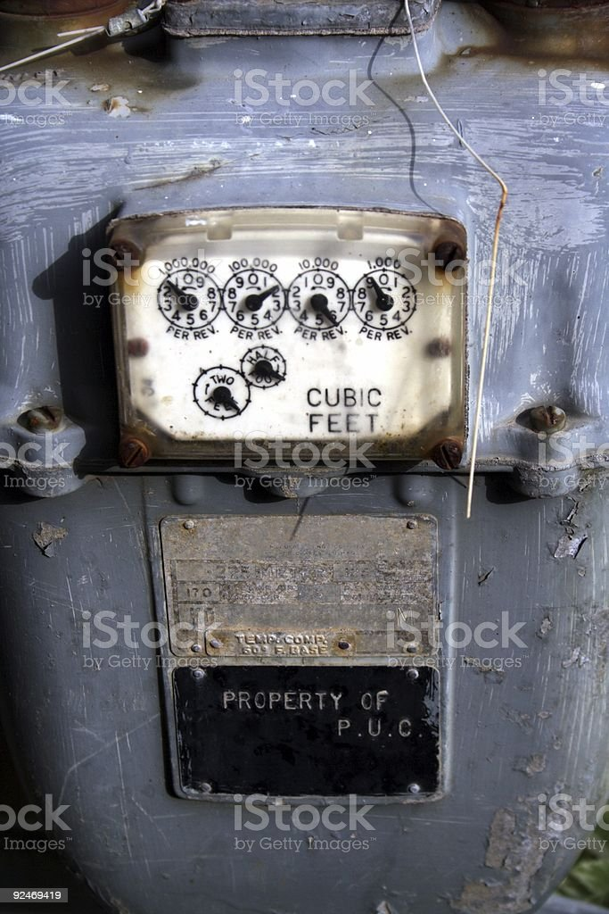 Imperial Gas Meter royalty-free stock photo