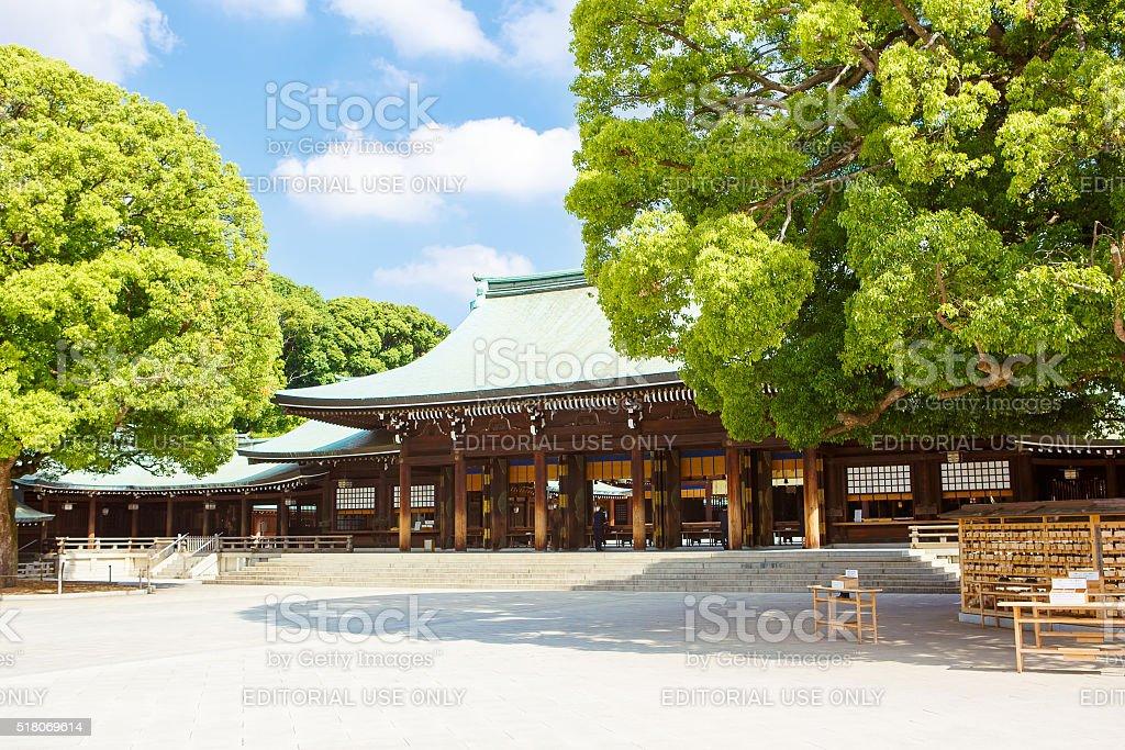 Imperial Meiji Shrine in Shibuya, Tokyo, Japan stock photo