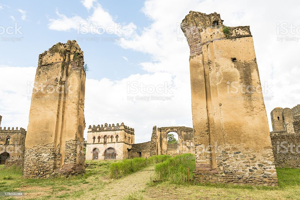 Imperial Palace in Gondar royalty-free stock photo