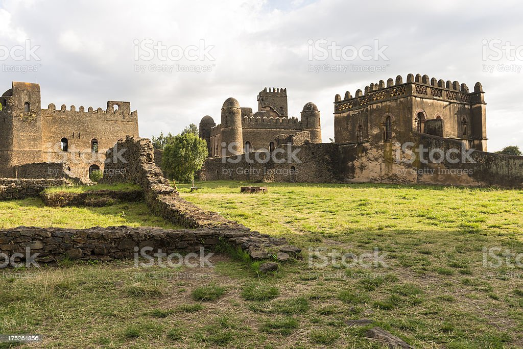 Imperial Palace in Gondar stock photo