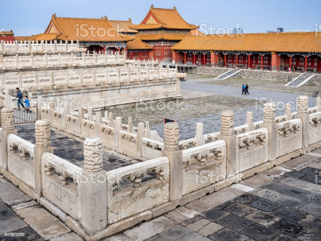 Imperial residential quarters in the Forbidden City (Gu Gong, Palace Museum), Beijing stock photo