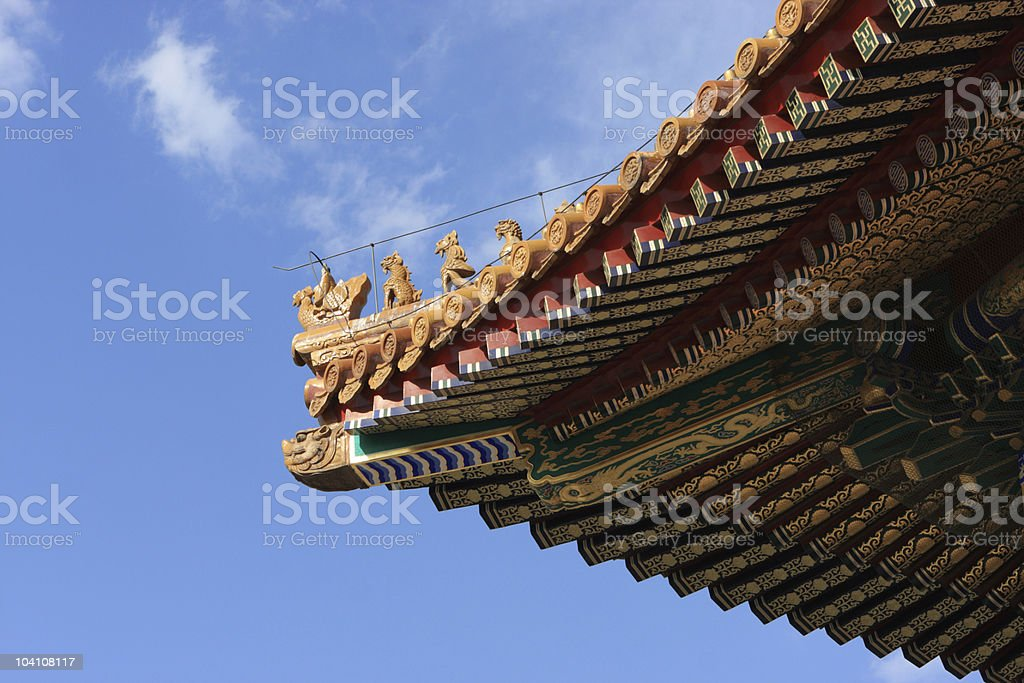 Imperial Roof Decoration royalty-free stock photo