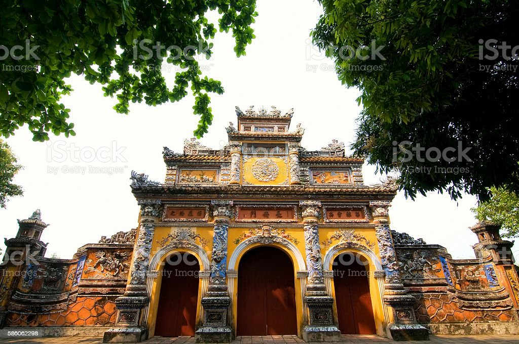 Imperial Royal Palace of Nguyen dynasty in Hue, Vietnam stock photo