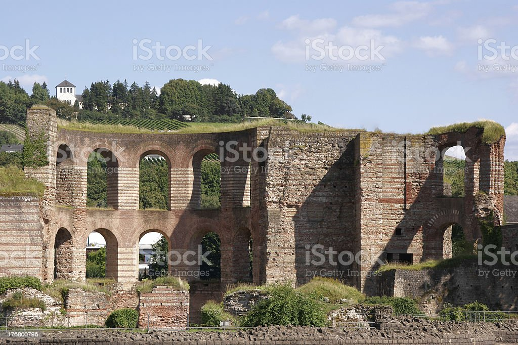 Imperial thermae in Trier stock photo
