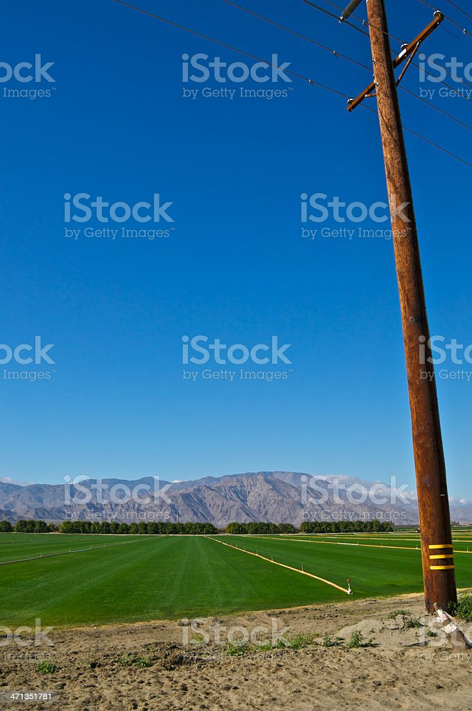 Imperial Valley agricultural scene, Southern California, Western USA stock photo