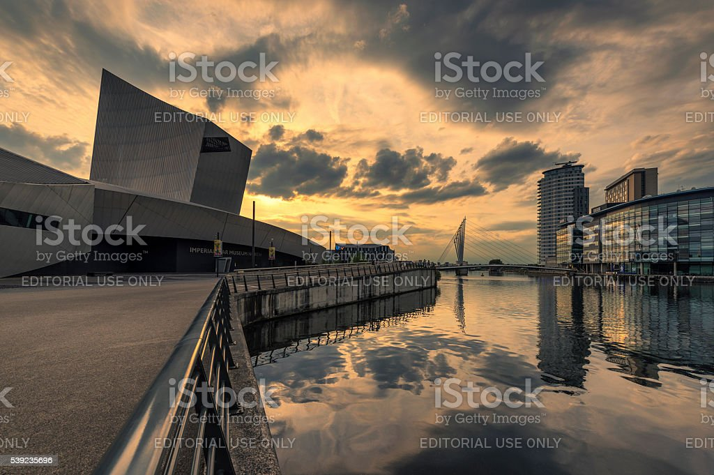 Imperial War Museum North, Manchester stock photo