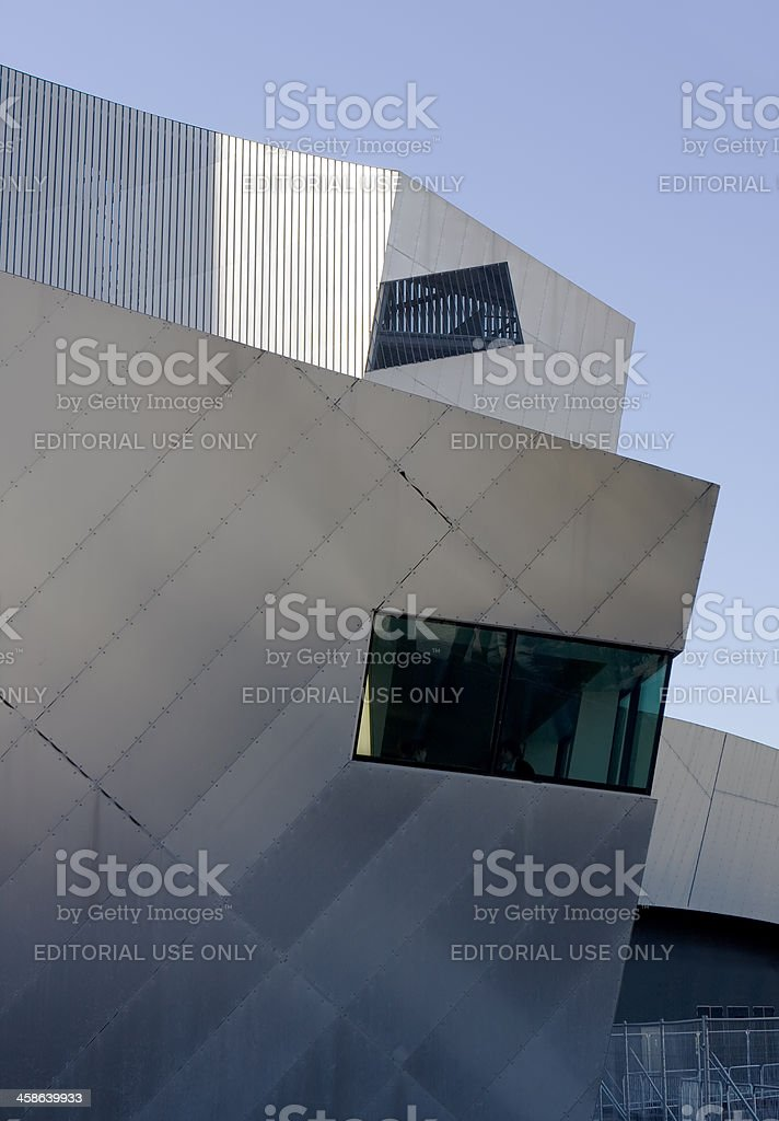 Imperial War Museum North, modernist architecture stock photo