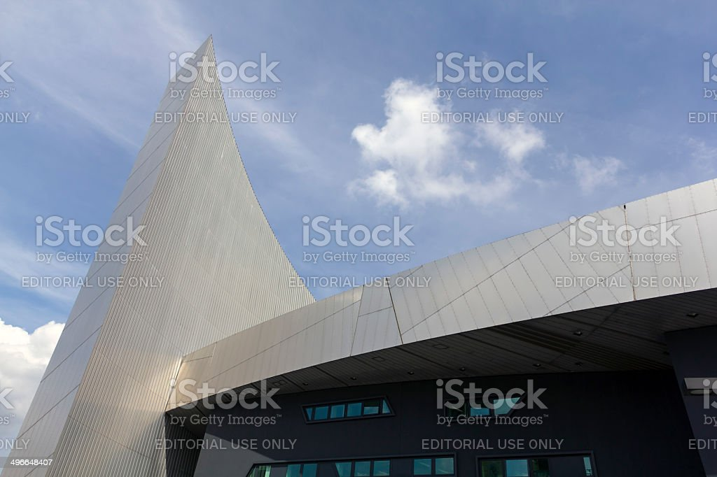 Imperial War Museum Salford Quays Manchester stock photo