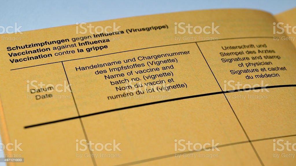 Impfausweis stock photo