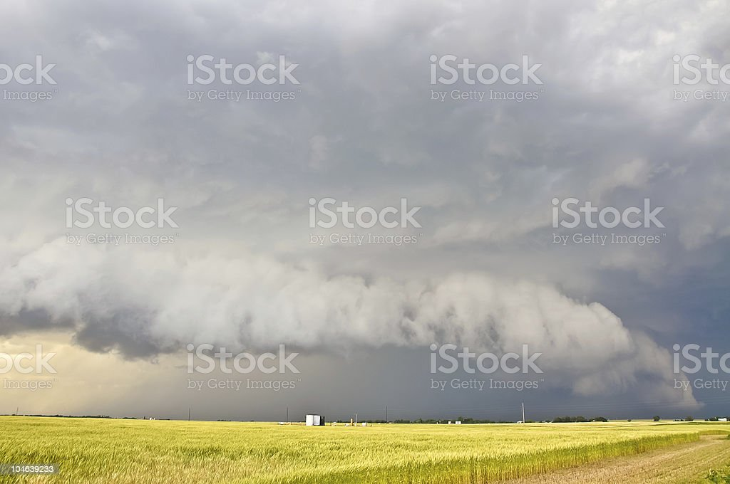 Imponent shelf cloud stock photo