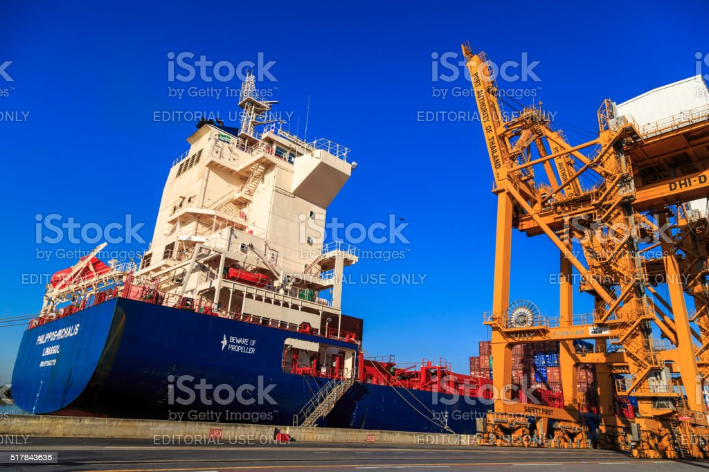 Import And Export Cargo stock photo