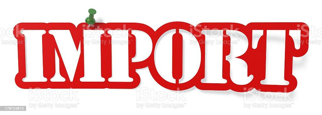 Import royalty-free stock photo