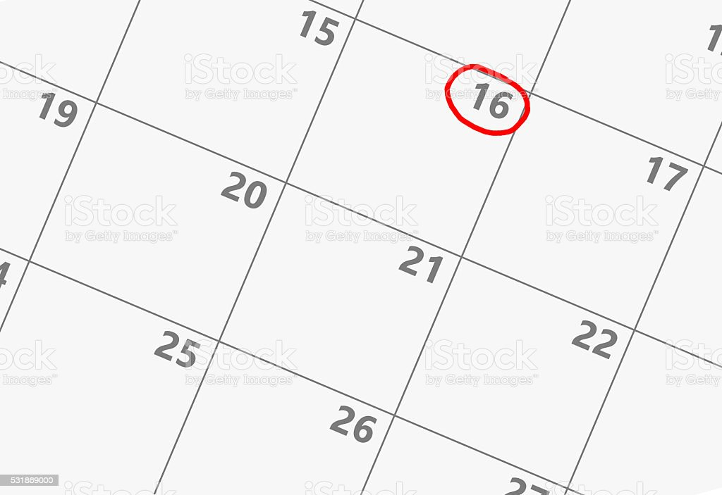 Important date calendar stock photo