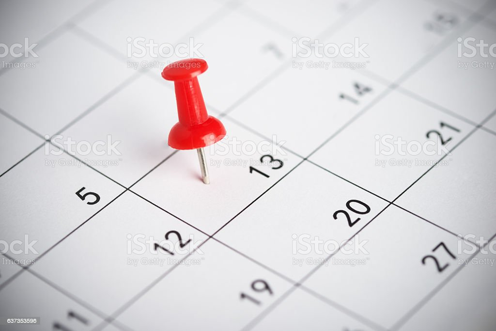 Important date on a calendar stock photo