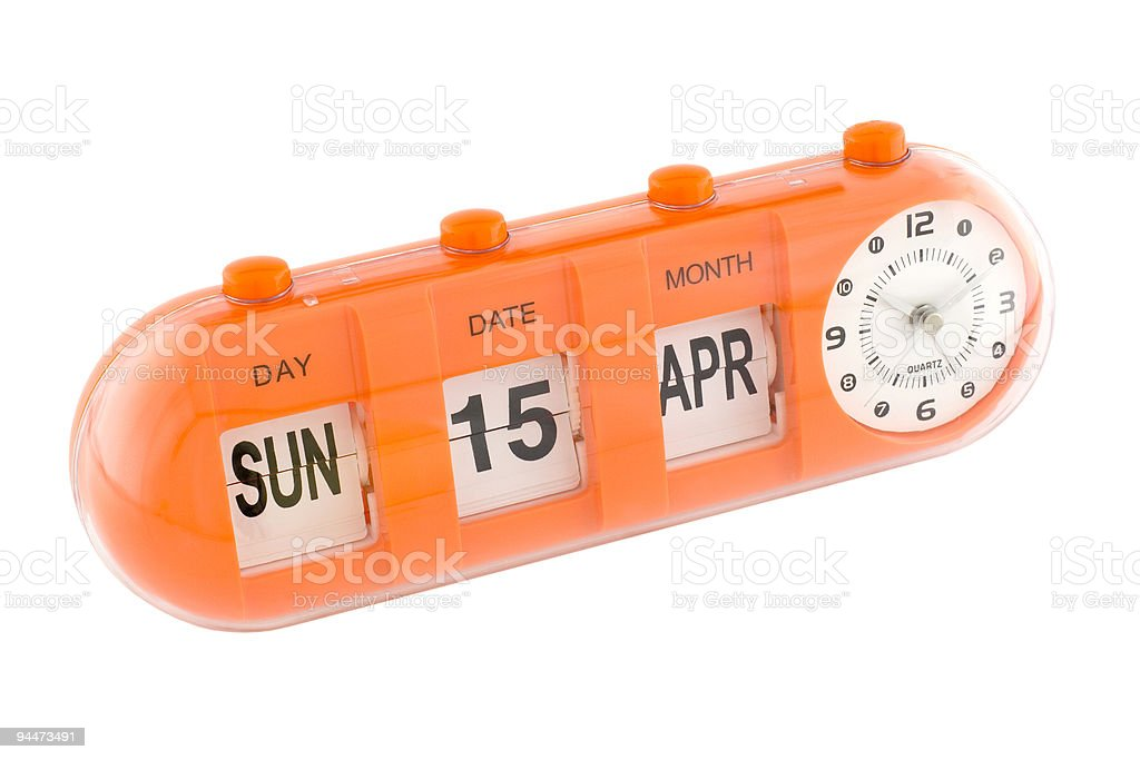 Important date - Tax Day in the United States royalty-free stock photo