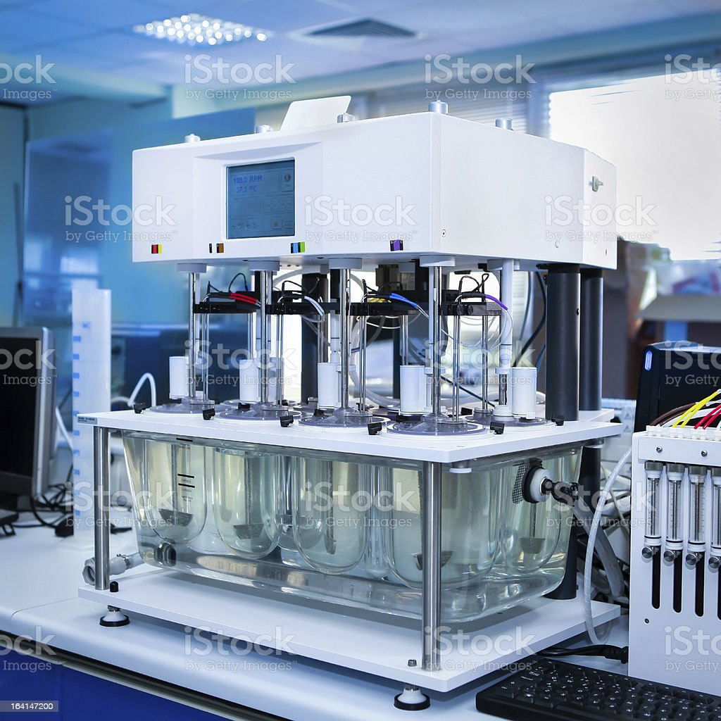 Important machine for pharmaceutical industry stock photo