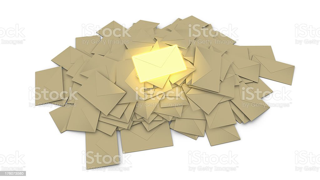 important mail royalty-free stock photo