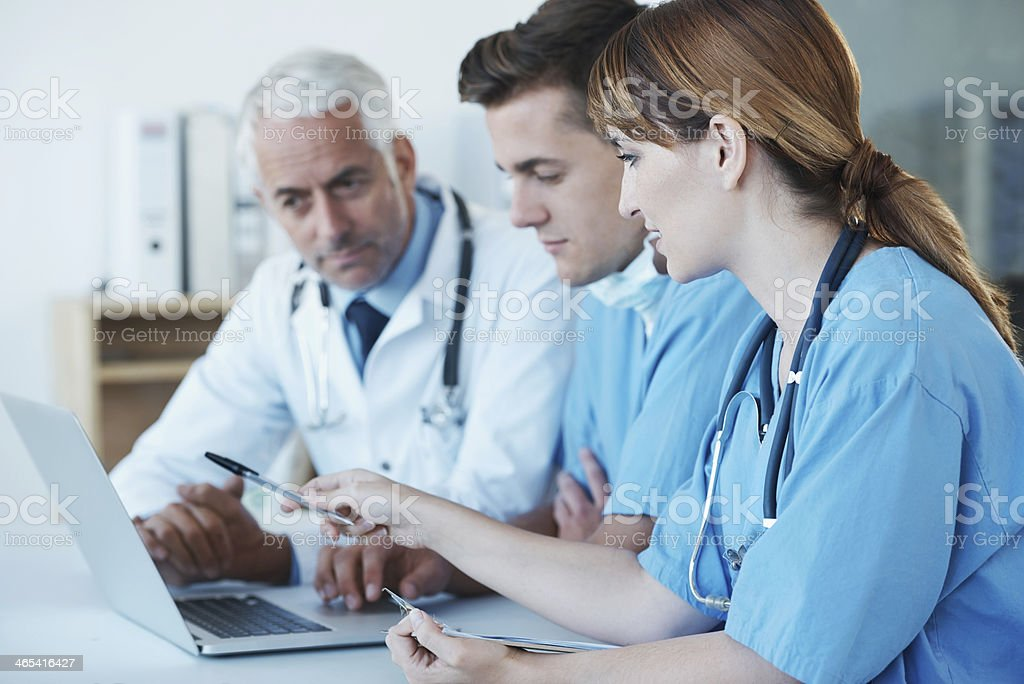 Important medical meeting in progress! stock photo