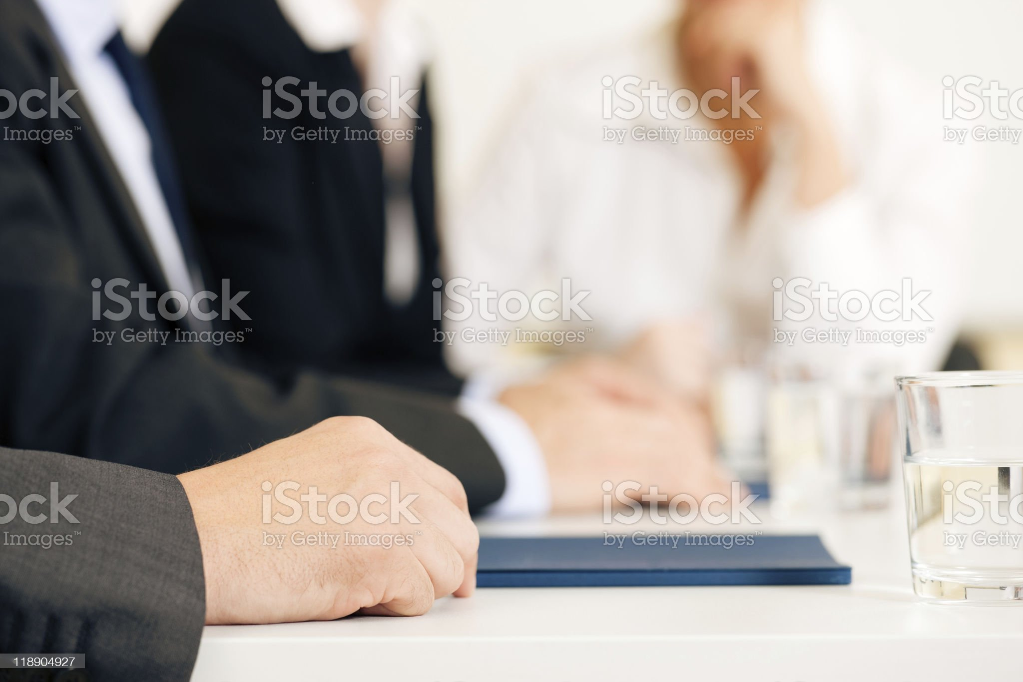 Important men deciding together what's better for their jobs royalty-free stock photo