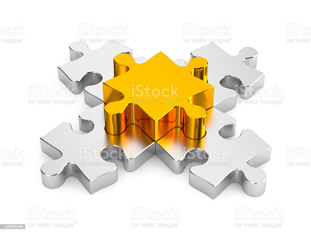 Important part. Puzzles metaphor royalty-free stock photo