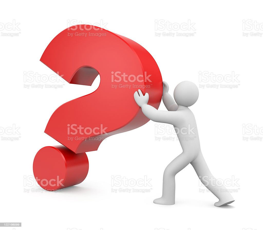 Important question stock photo