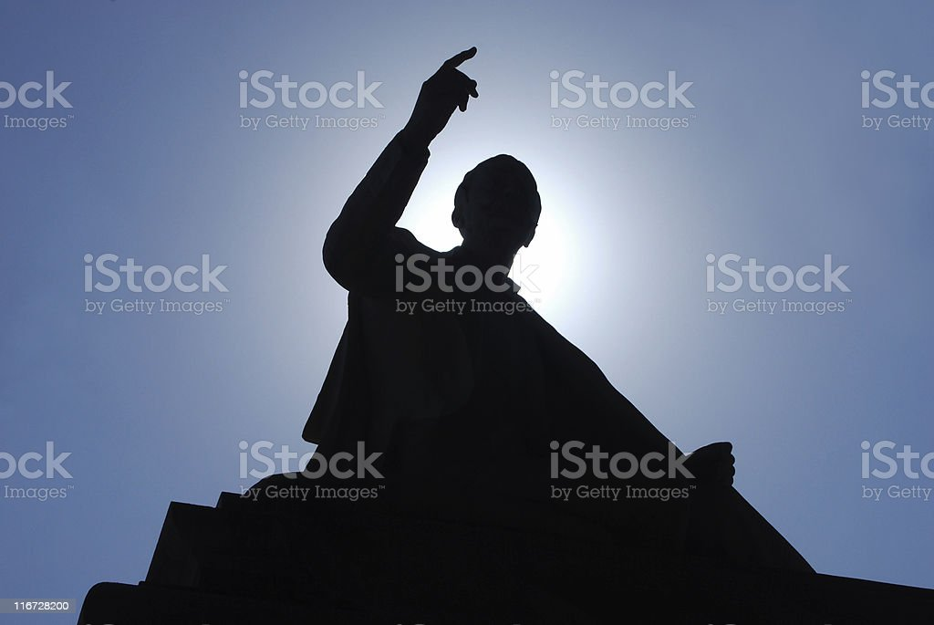Important speech stock photo