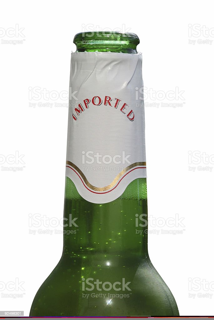 Imported beer stock photo