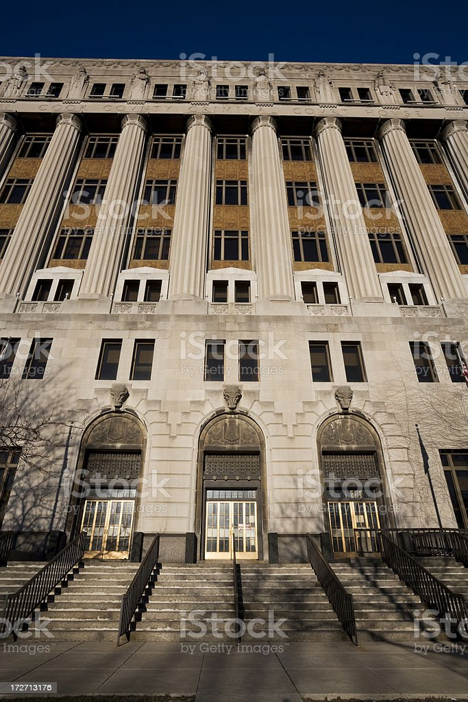 Imposing Cook County Courthouse royalty-free stock photo