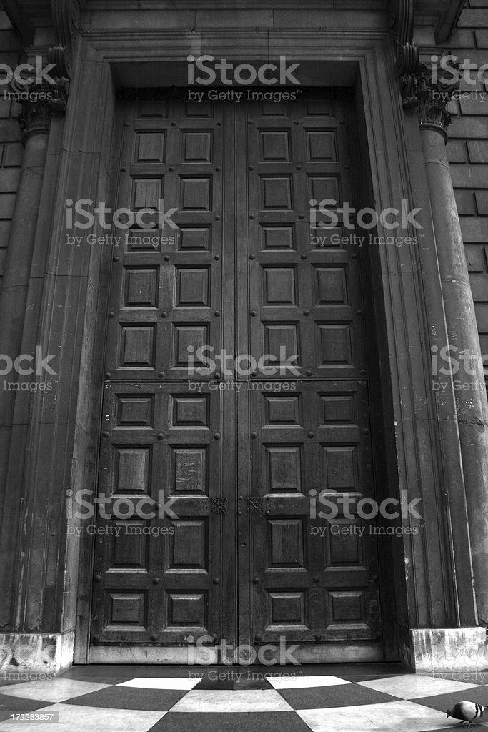 Imposing doors stock photo