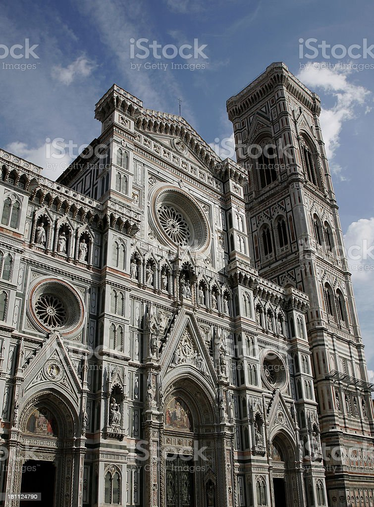 Imposing Florentine Architecture stock photo