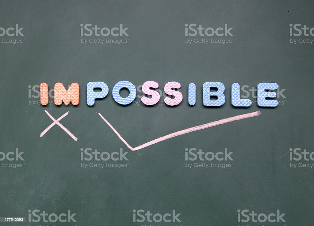 impossibel and possible sign royalty-free stock photo