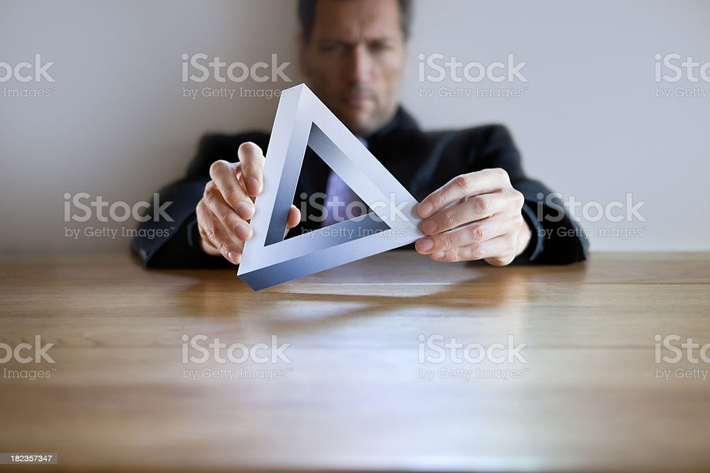 Impossible Business Puzzle royalty-free stock photo