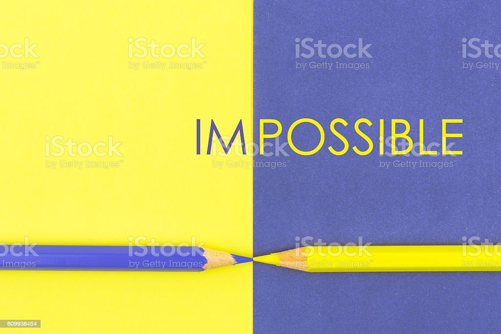 Impossible contrast concept stock photo