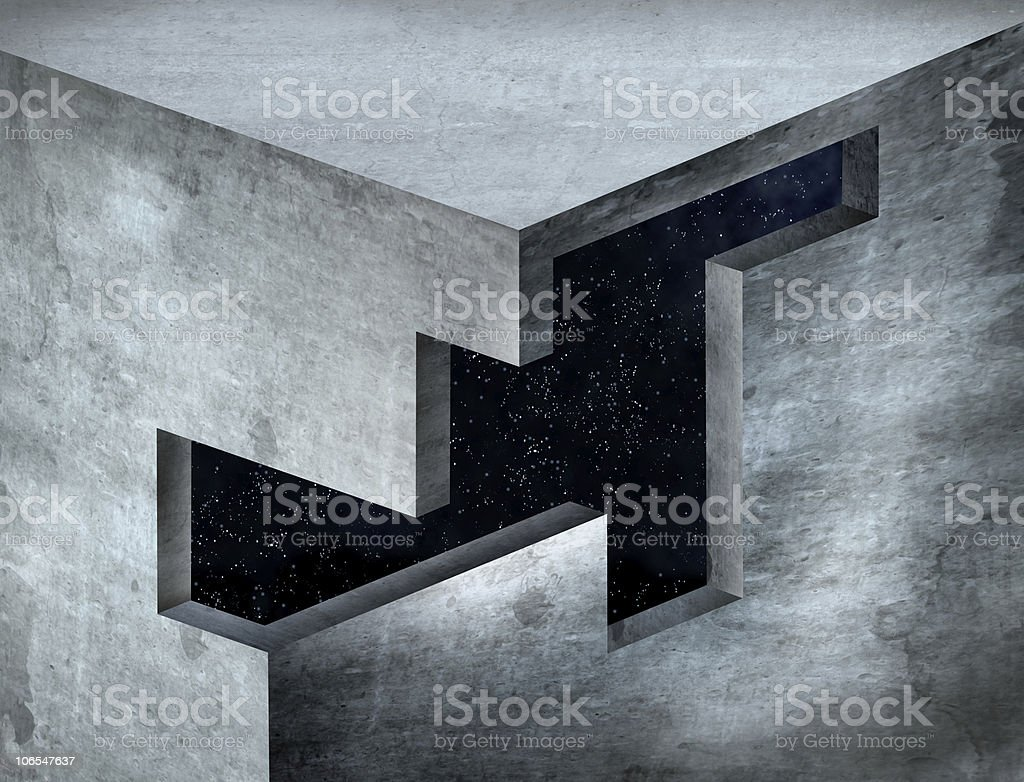 Impossible Corner stock photo