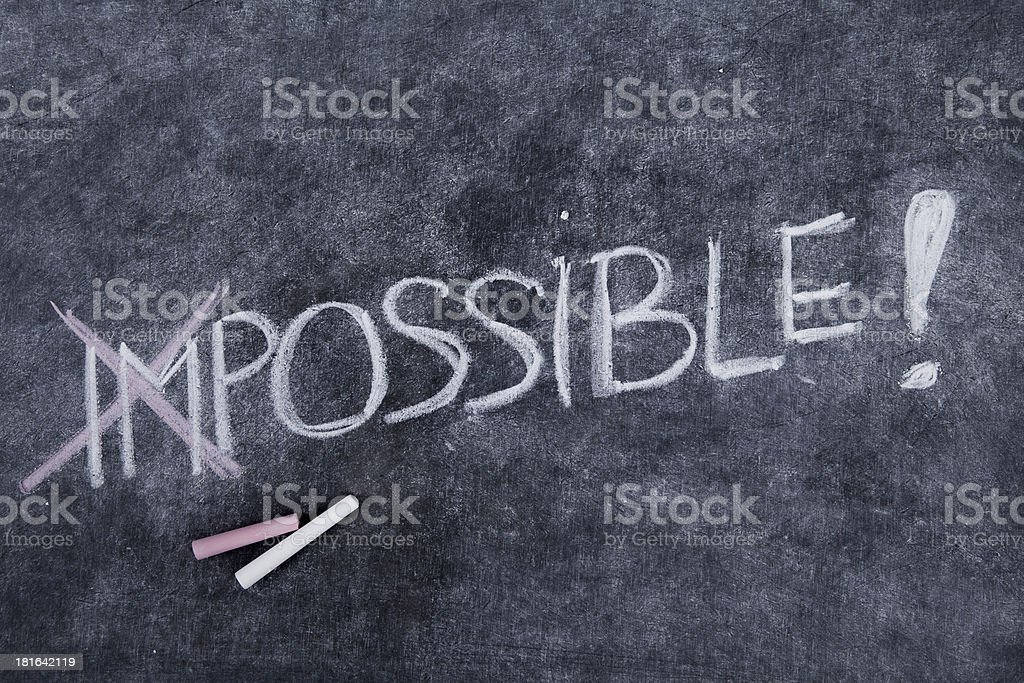 Impossible is nothing royalty-free stock photo