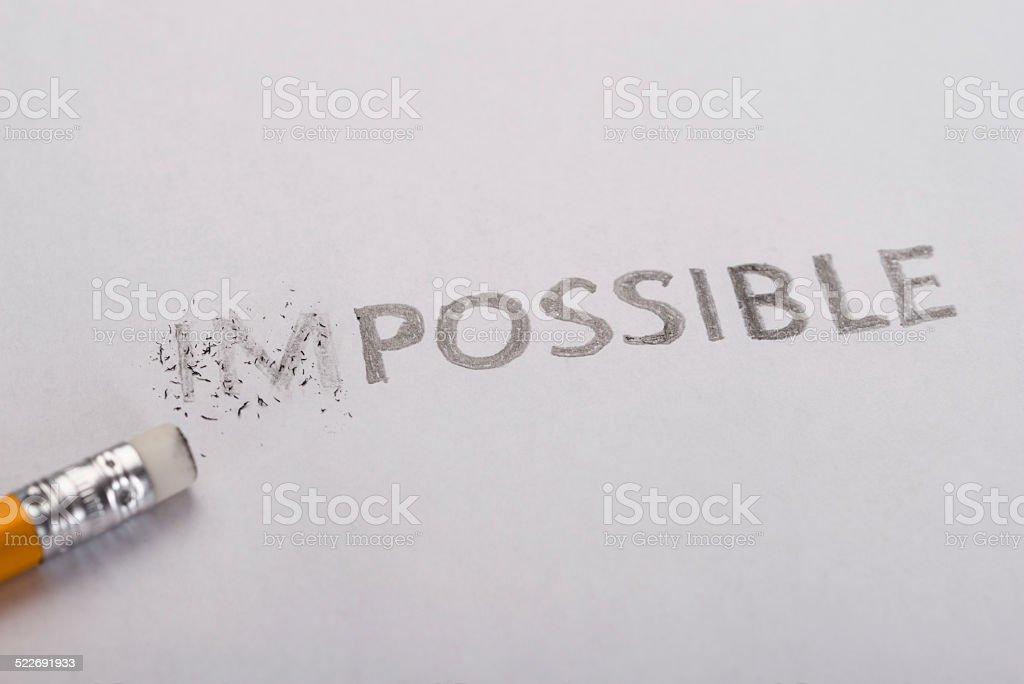 Imposible es posible concepto - foto de stock