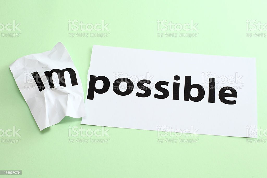 impossible, possible royalty-free stock photo