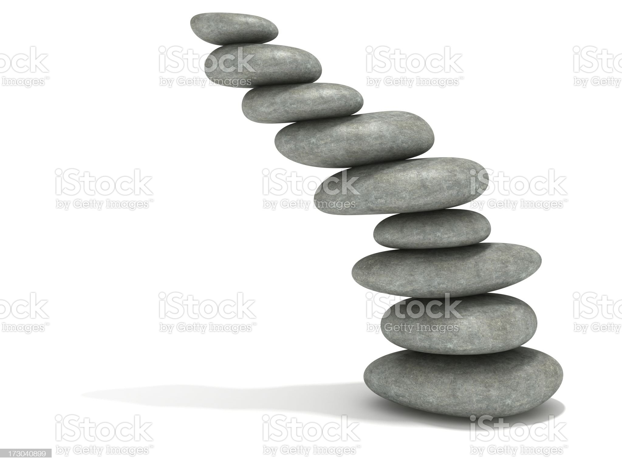 impossible stones stack royalty-free stock photo