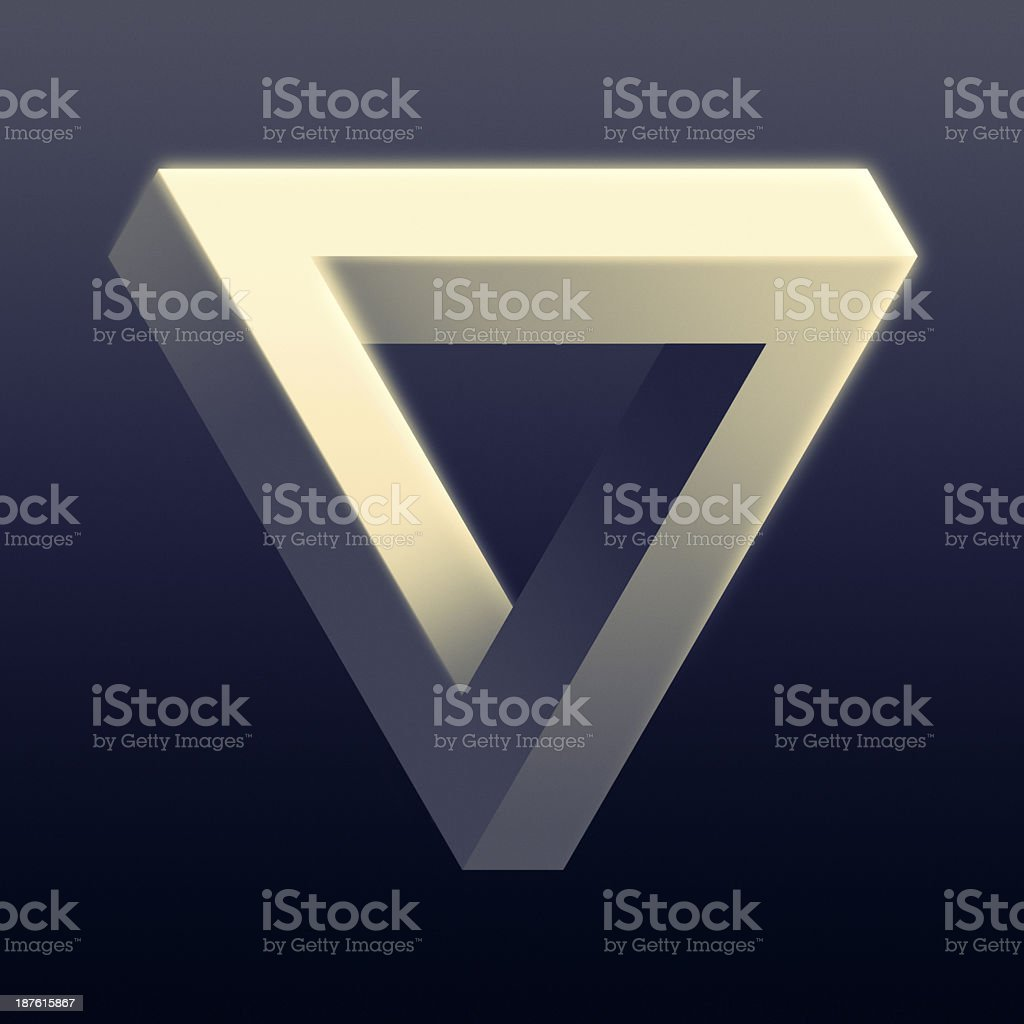 Impossible Triangle Illusion stock photo