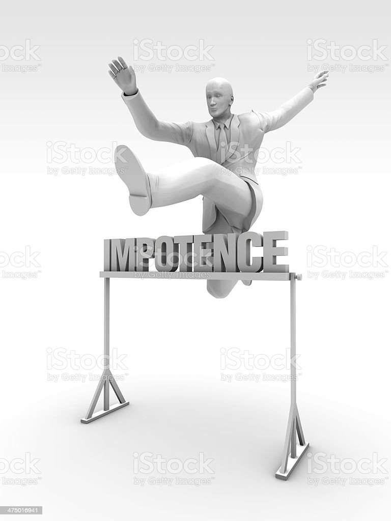 Impotence stock photo